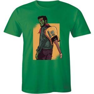 Zombie Guitarist Tee Guitar Music Lover T-shirt